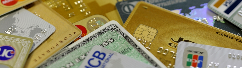 Close Up Image of Credit Card Pile